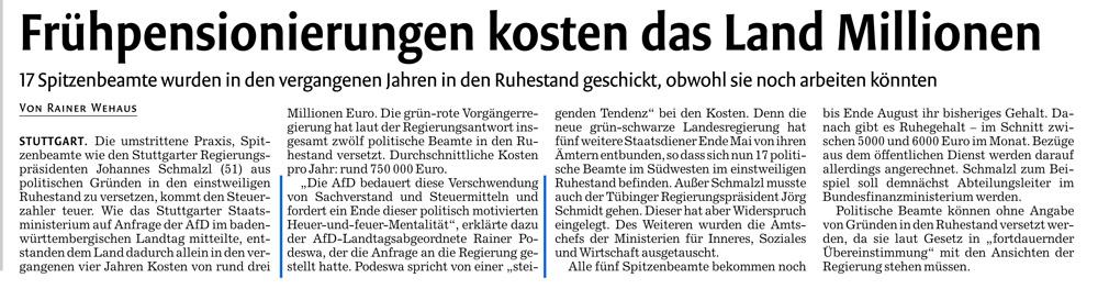 Stuttgarter Nachrichten vom 27. Juli 2016