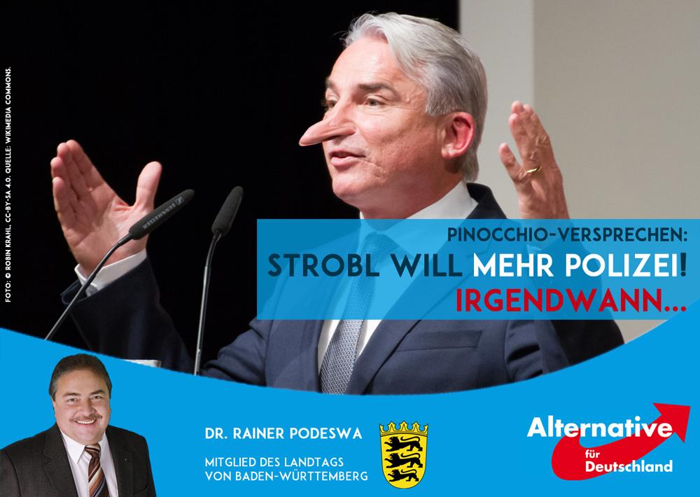 Innenminister Strobl will mehr Polizei... in ferner Zukunft