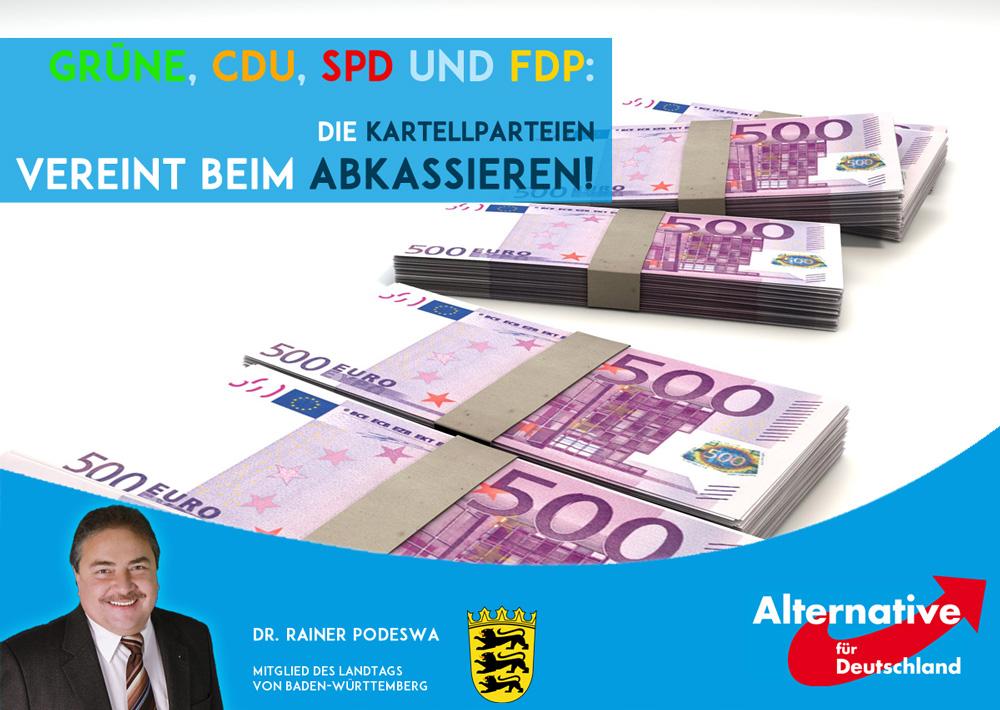Kartellparteien einig: Mehr Geld und Rente für sich selbst!