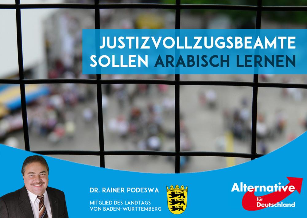 Justizvollzugsbeamte sollen Arabisch lernen