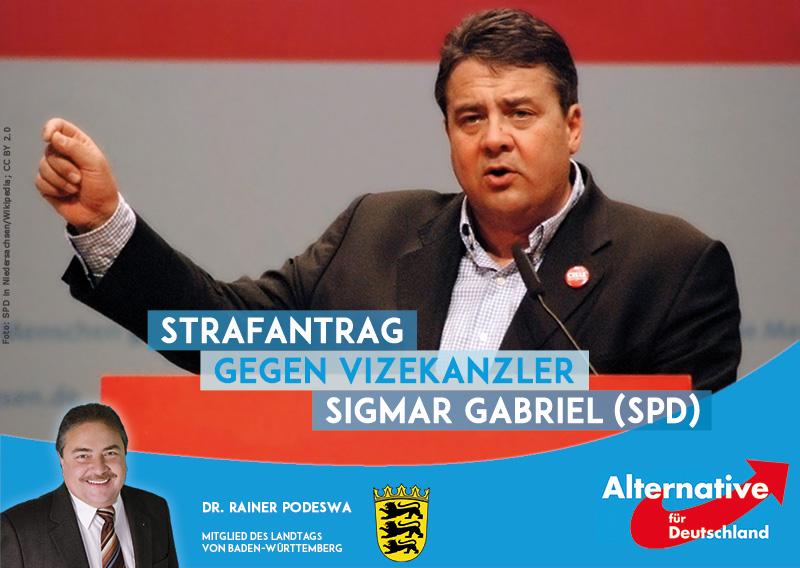 Strafantrag gegen SPD-Vizekanzler Sigmar Gabriel