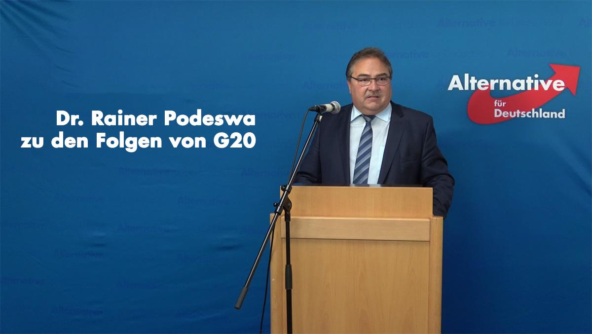 Dr. Rainer Podeswa zu den Folgen von G20