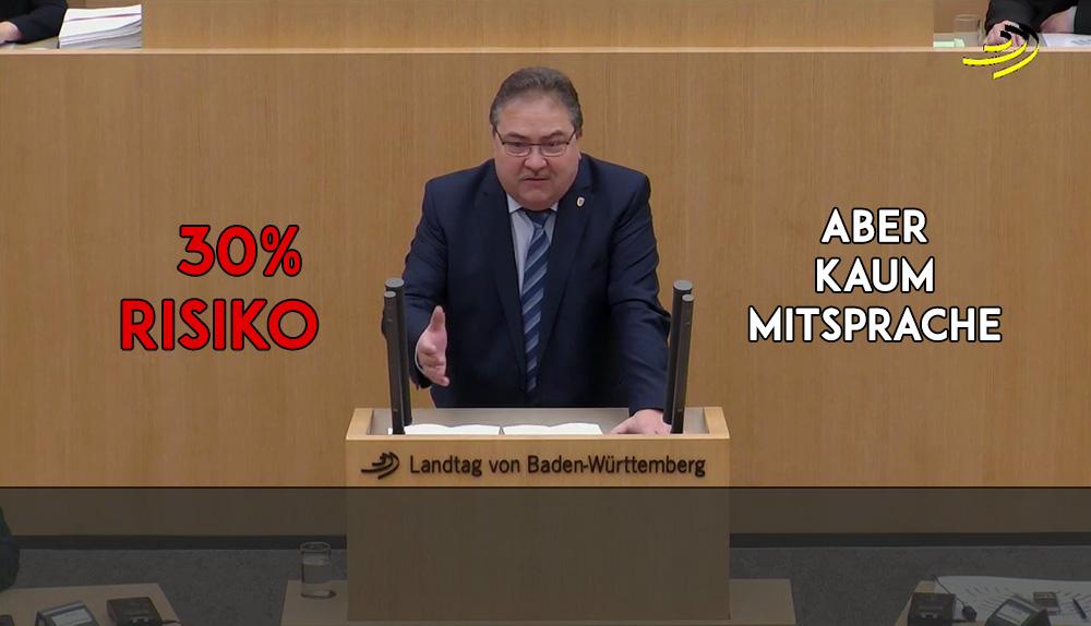 Landtagsrede: EU-Finanzpolitik einer Genossenschaftsbank