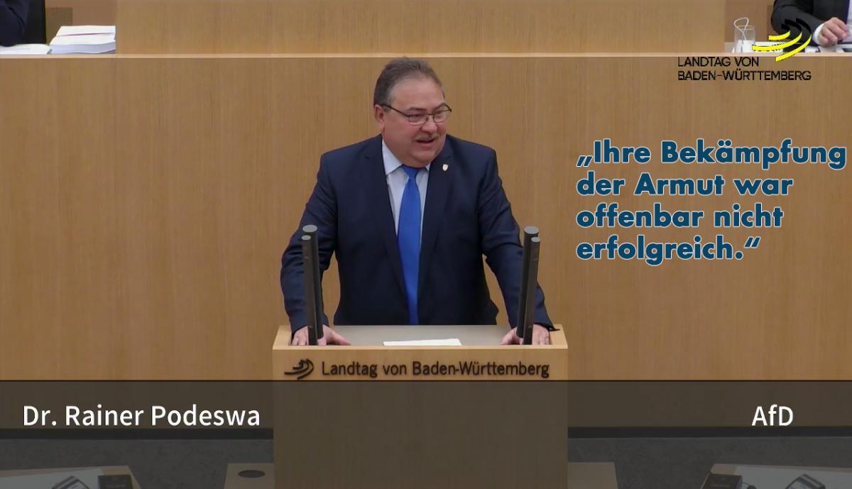 Landtagsrede: Tafeln dokumentieren das Versagen des Staates