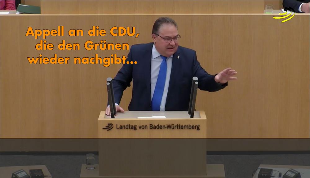 Landtagsrede: Vorzeigebeispiel für Altparteien-Politik