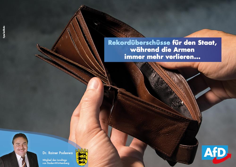 Rekordüberschüsse für den Staat, während die Armen immer mehr verlieren...
