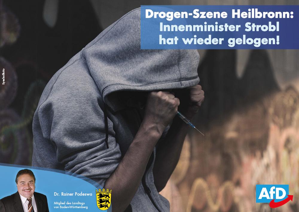 Innenminister hat erneut gelogen: Massiver Schlag gegen Drogenszene in Heilbronn