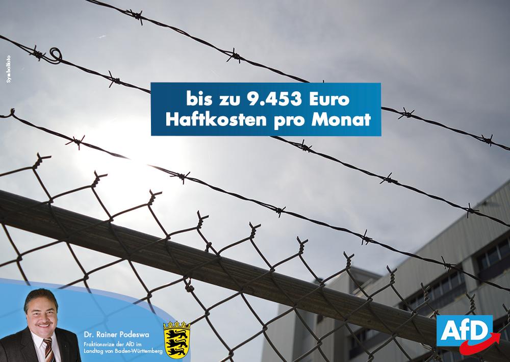 Kosten einzelner Haftformen und Maßnahmen zur Maßregelung