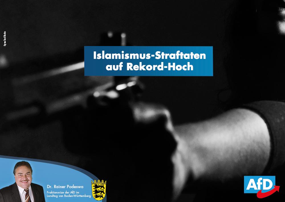 Islamismus-Straftaten auf Rekord-Hoch