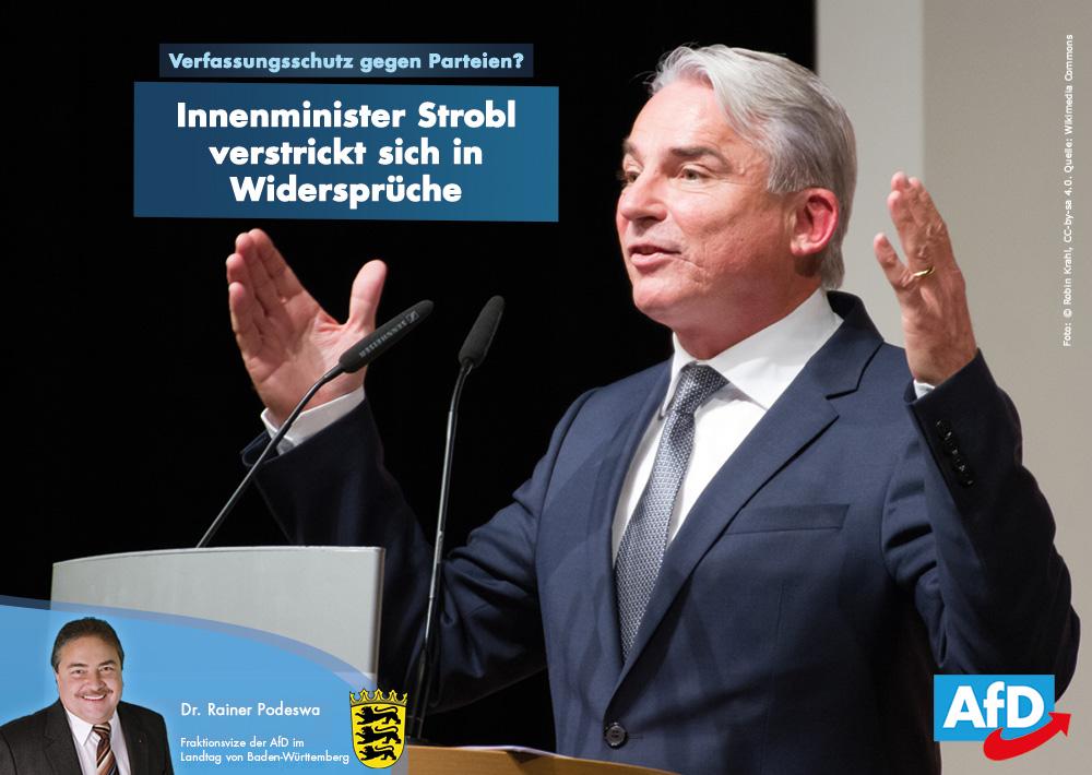 Innenminister Strobl und der Missbrauch des Verfassungsschutzes