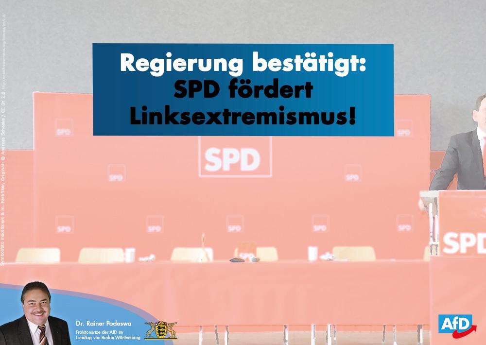 SPD fördert Linksextremismus und hilft Linksextremisten