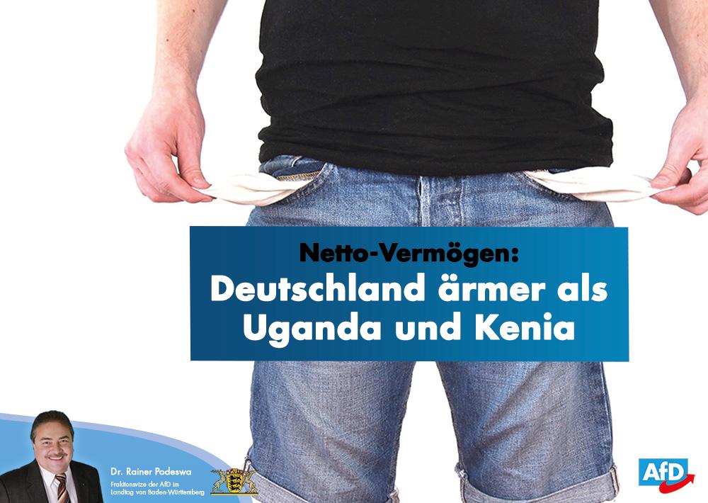 Netto-Vermögen: Deutschland ärmer als Uganda und Kenia