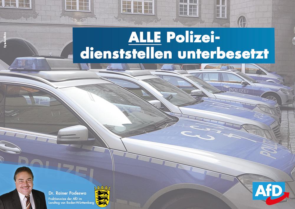 Polizei und Staatsanwaltschaft unterbesetzt