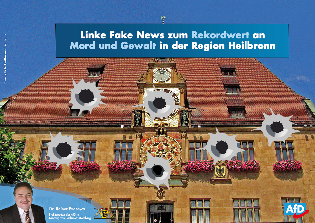 Linke Fake News zu Mord und Gewalt in Heilbronn