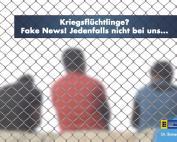 Kriegsflüchtlinge? Fake News! Jedenfalls nicht bei uns...!