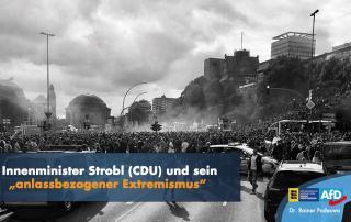 """Innenminister Strobl (CDU) und sein """"anlassbezogener Extremismus"""""""