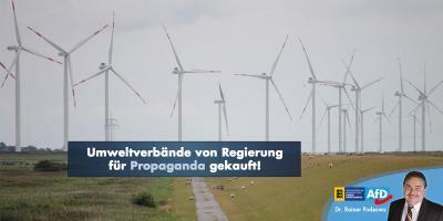 Umweltverbände von Regierung für Propaganda gekauft!