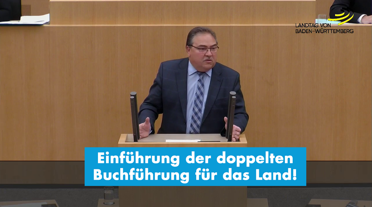 AfD-Forderung zur Einführung der doppelten Buchführung (Doppik) in der Landesverwaltung