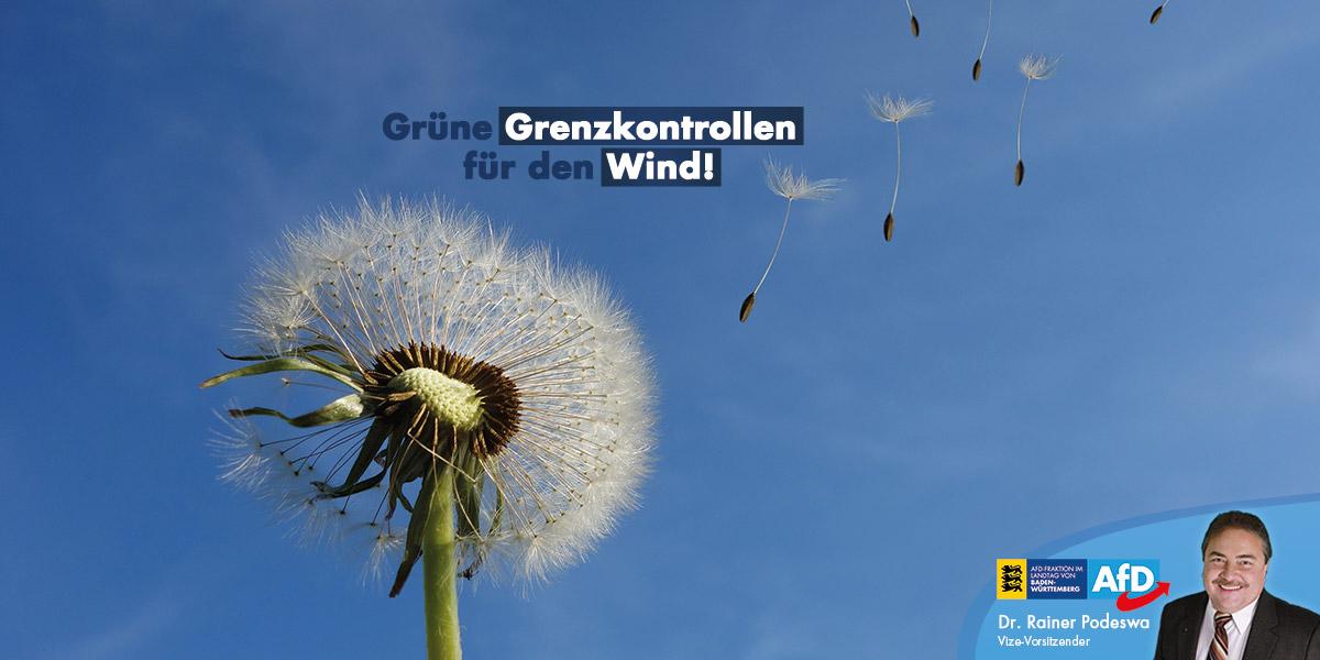 Grüne Grenzkontrollen für den Wind!