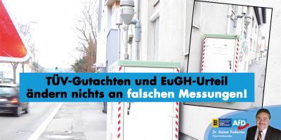 TÜV-Gutachten und EuGH-Urteil ändern nichts an falschen Messungen!