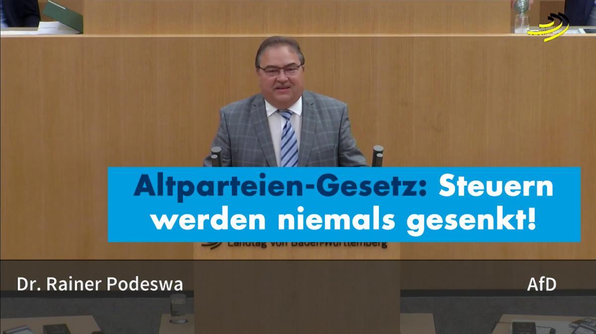 Ungeschriebenes Altparteien-Gesetz: Steuern werden niemals gesenkt!