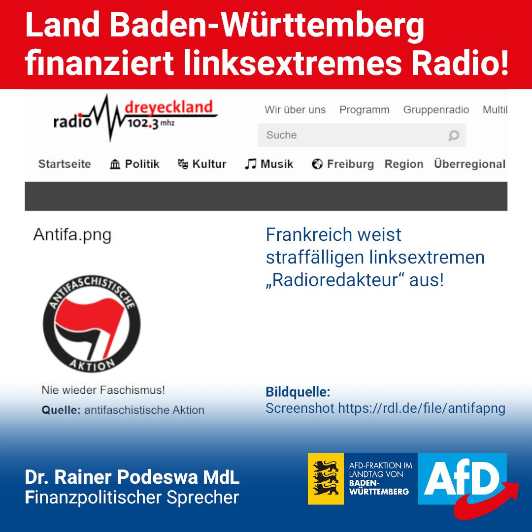 Land Baden-Württemberg finanziert linksextremes Radio!