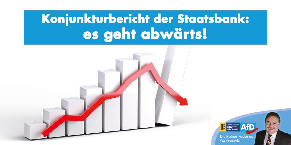 Konjunkturbericht der Staatsbank: es geht abwärts!