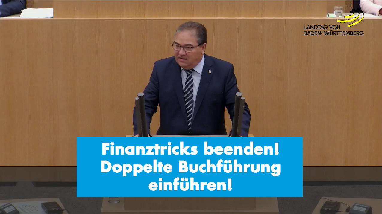 Landtagsrede zur Forderung der Einführung der doppelten Buchführung