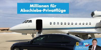 Millionen für Privatflüge zur Abschiebung Krimineller