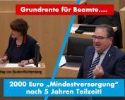 Grünes Geschmäckle: 2000 Euro Pension nach 5 Jahren Teilzeit!