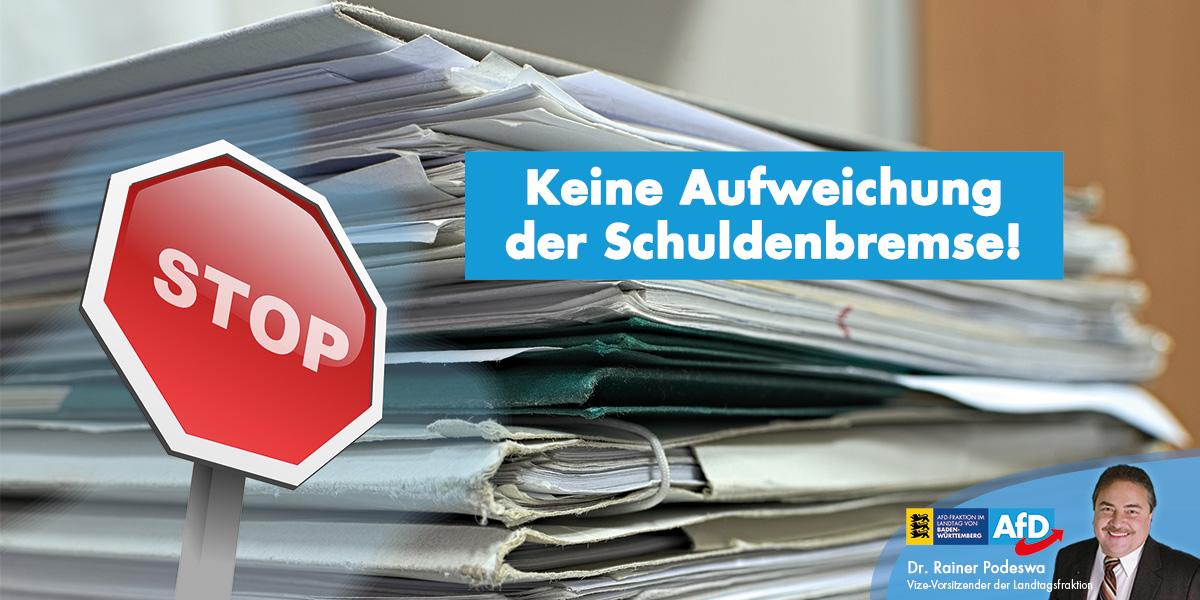 Forderungen von Bündnis 90/Die Grünen, CDU, SPD und FDP/DVU nach einer Aufweichung der Schuldenbremse