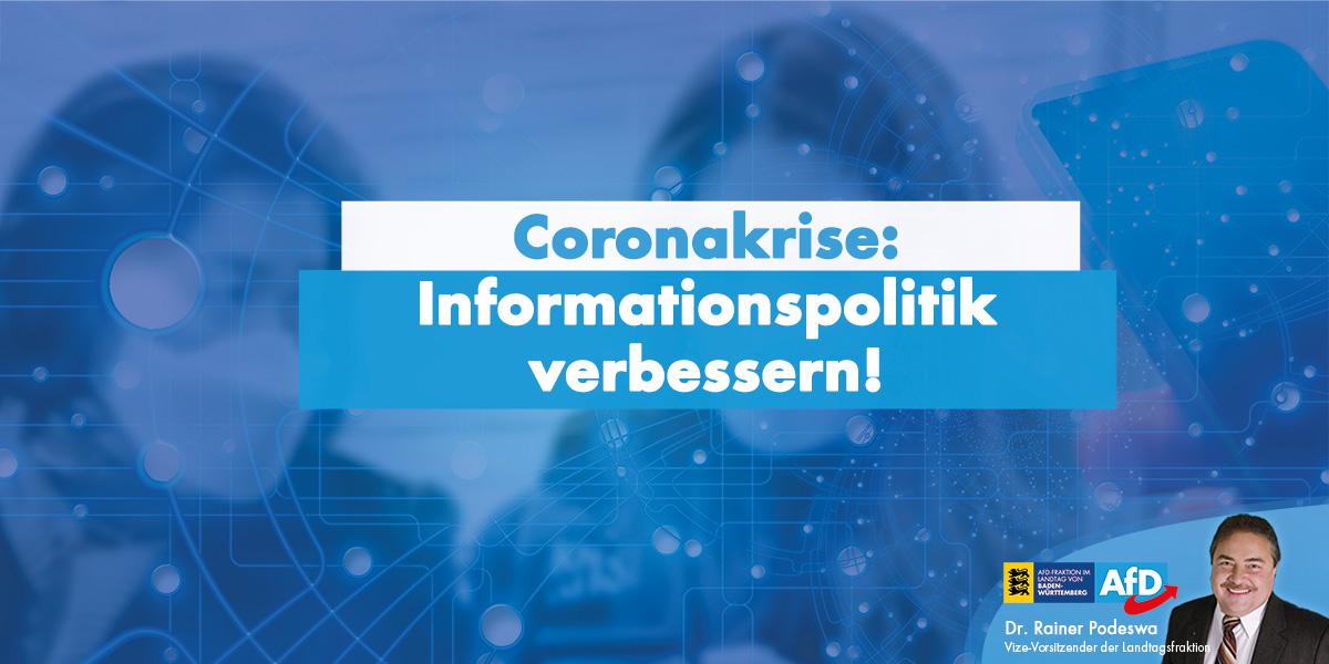 Coronakrise: Wirtschaftsministerium muss Informationspolitik verbessern!