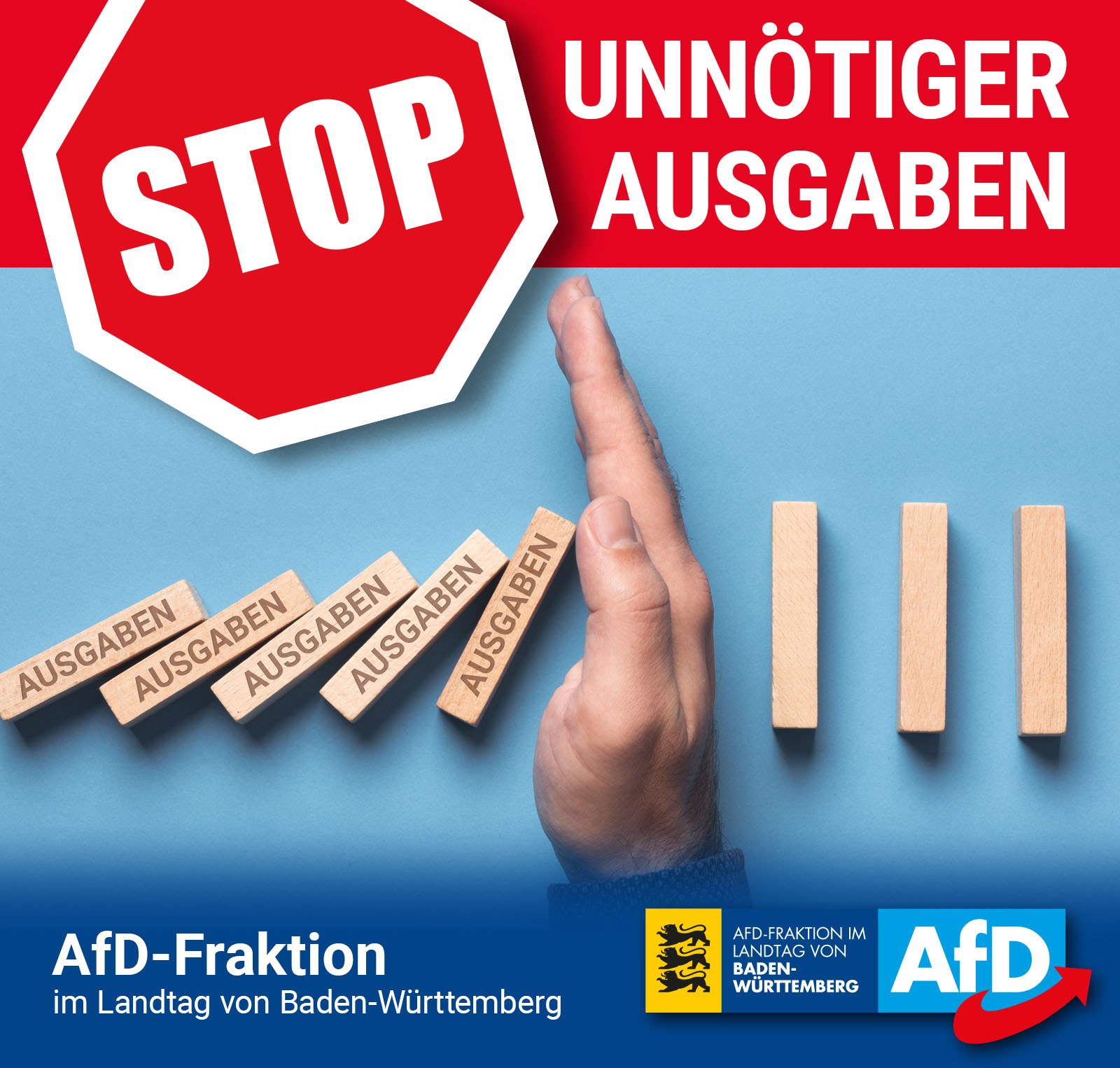 AfD-Fraktion will Haushaltssperre
