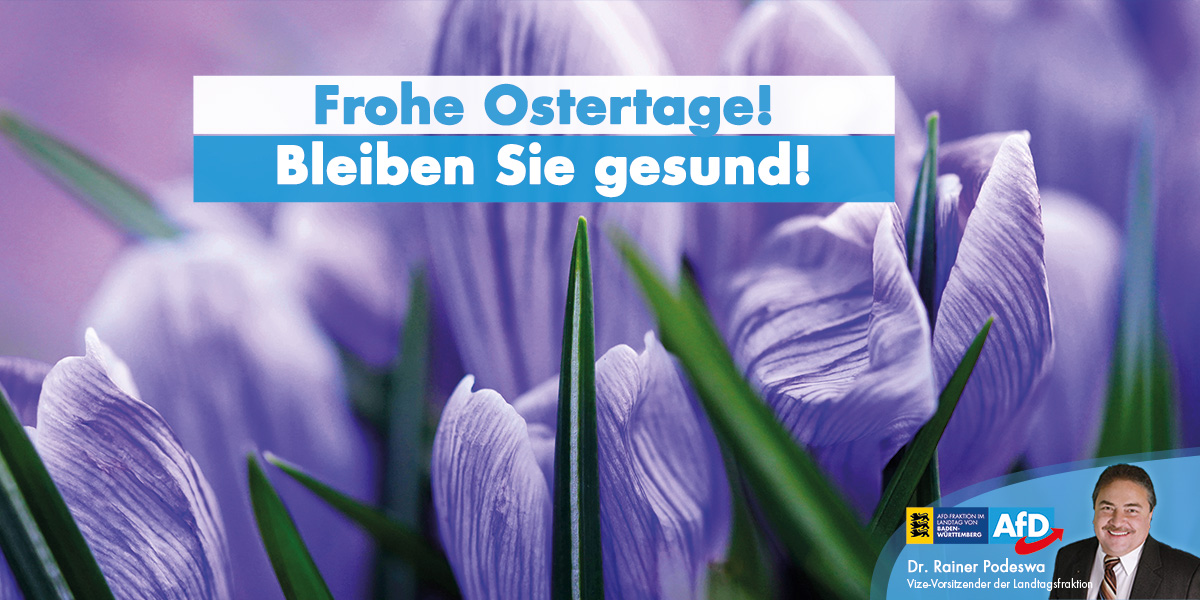 Ich wünsche Ihnen frohe Ostern!