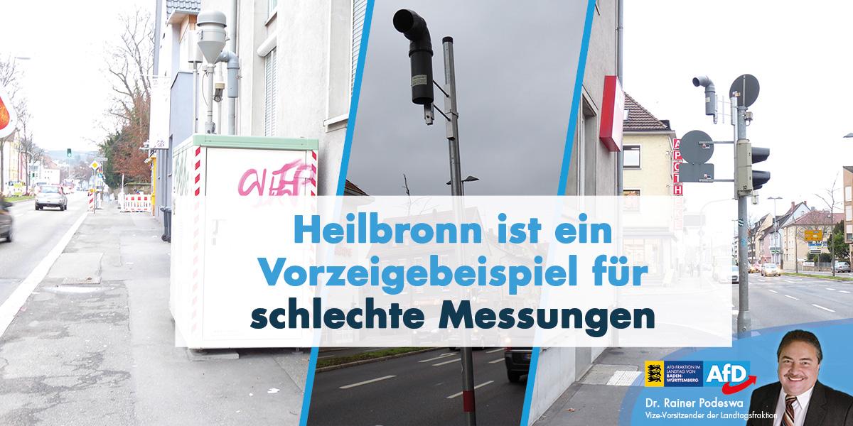 Dr. Rainer Podeswa MdL: keine Fahrverbote für Heilbronn
