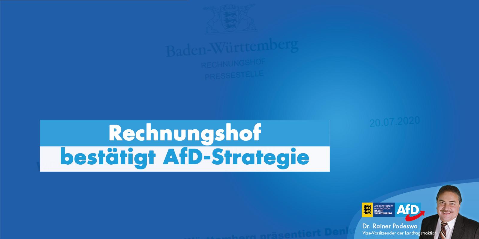 Dr. Rainer Podeswa: Rechnungshof bestätigt AfD-Strategie