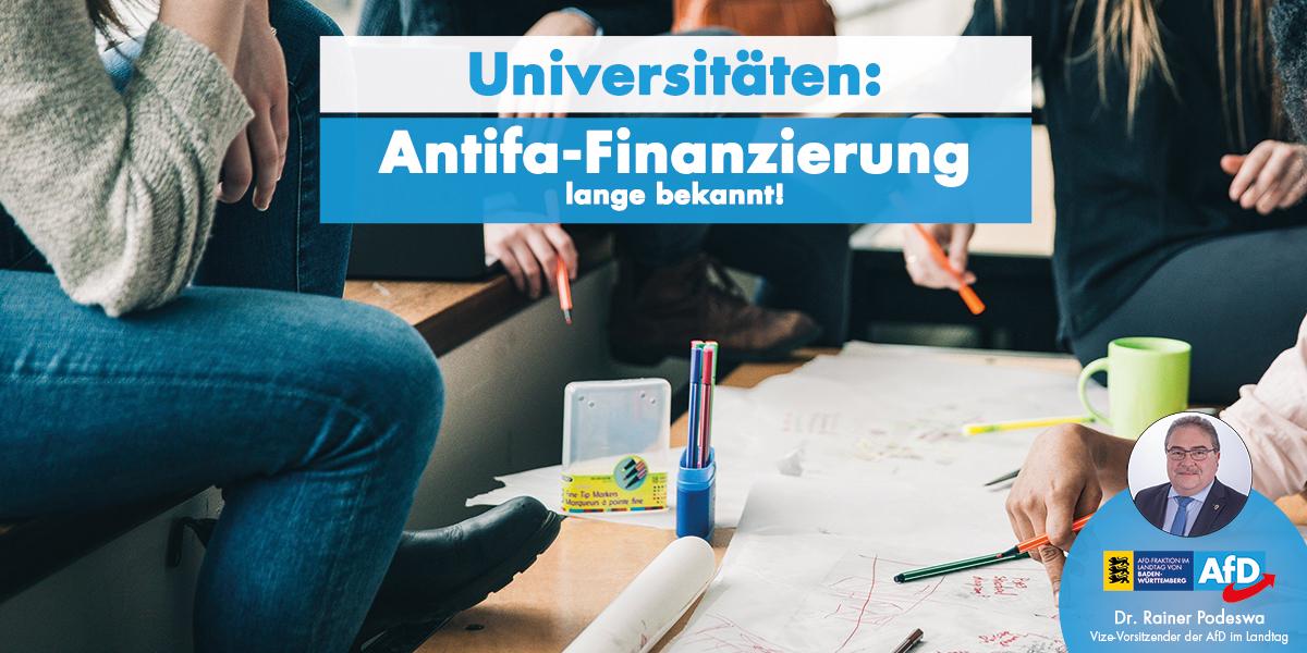 Dr. Rainer Podeswa zur Finanzierung der Antifa an Universitäten