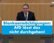AfD lässt Blankoermächtigungen nicht durchgehen
