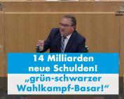 Dr. Rainer Podeswa: grün-schwarzer Wahlkampf-Basar statt Corona-Haushalt