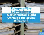 Dr. Rainer Podeswa: Fall Stöckle bleibt Ohrfeige für Ministerin Bauer