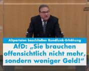 Landtagsrede Dr. Rainer Podeswa: Keine Gebührenerhöhung für Zwangsfunk