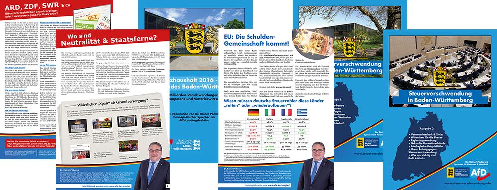 Diverse der Flyer von Dr. Rainer Podeswa