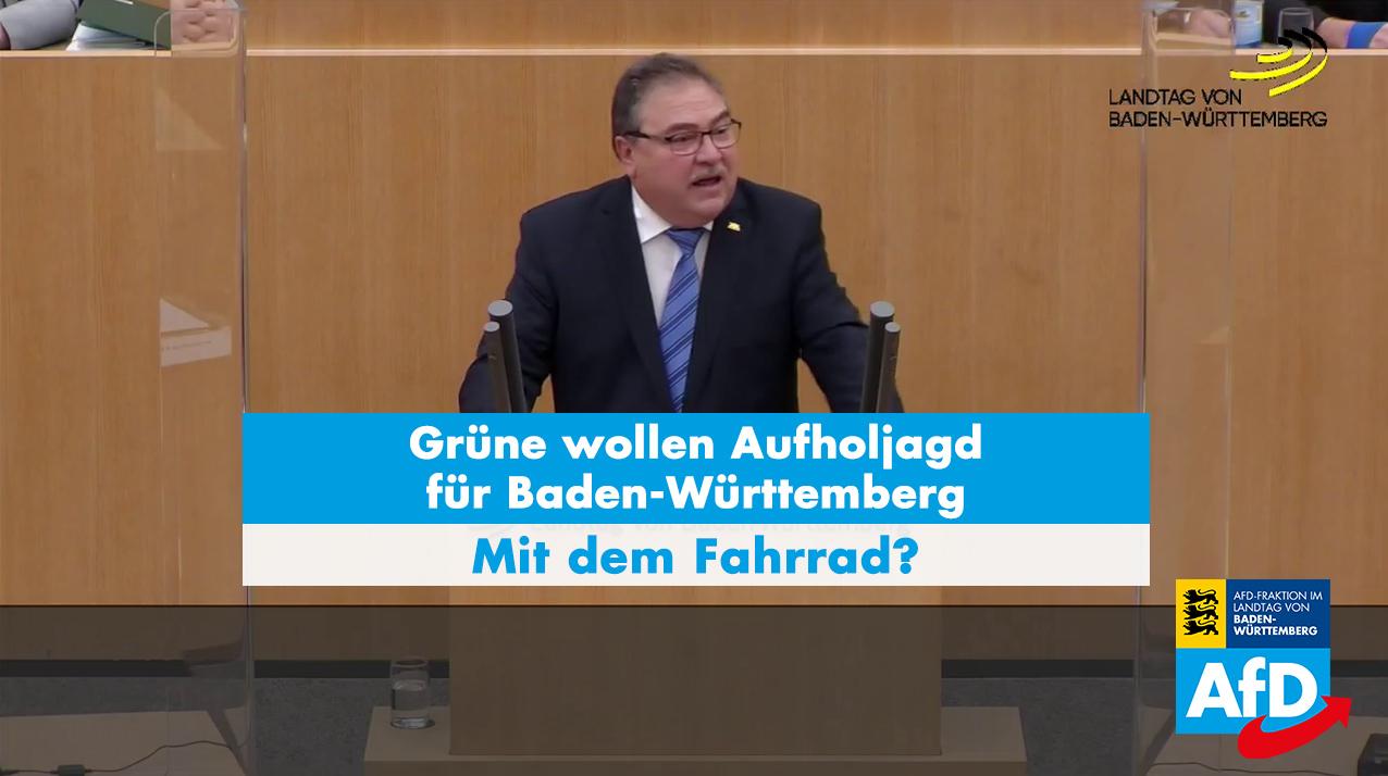 Dr. Rainer Podeswa: grüne Aufholjagd mit dem Fahrrad