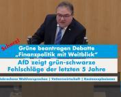 """Dr. Rainer Podeswa: """"Finanzpolitik mit Weitblick"""" von den Grünen ist Realsatire"""