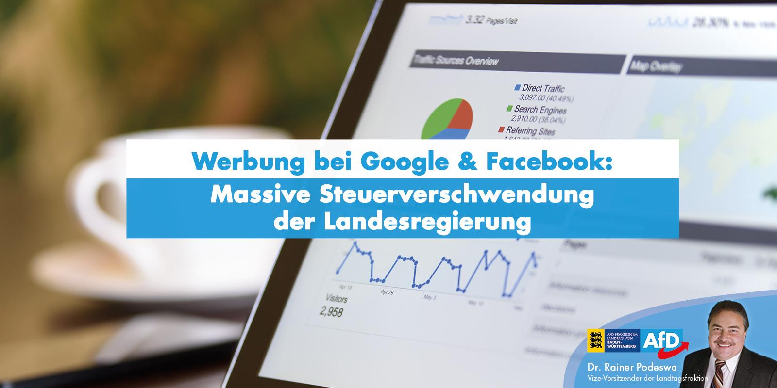Dr. Rainer Podeswa: Internet-Werbung der Landesregierung ist Steuerverschwendung
