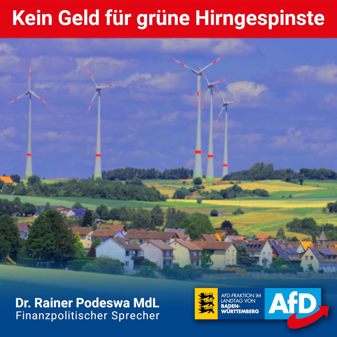 Dr. Rainer Podeswa: Geld für wichtige Projekte und nicht für ideologische Hirngespinste