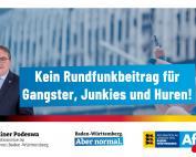 Dr. Rainer Podeswa: Kein Rundfunkbeitrag für Gangster, Junkies und Huren!