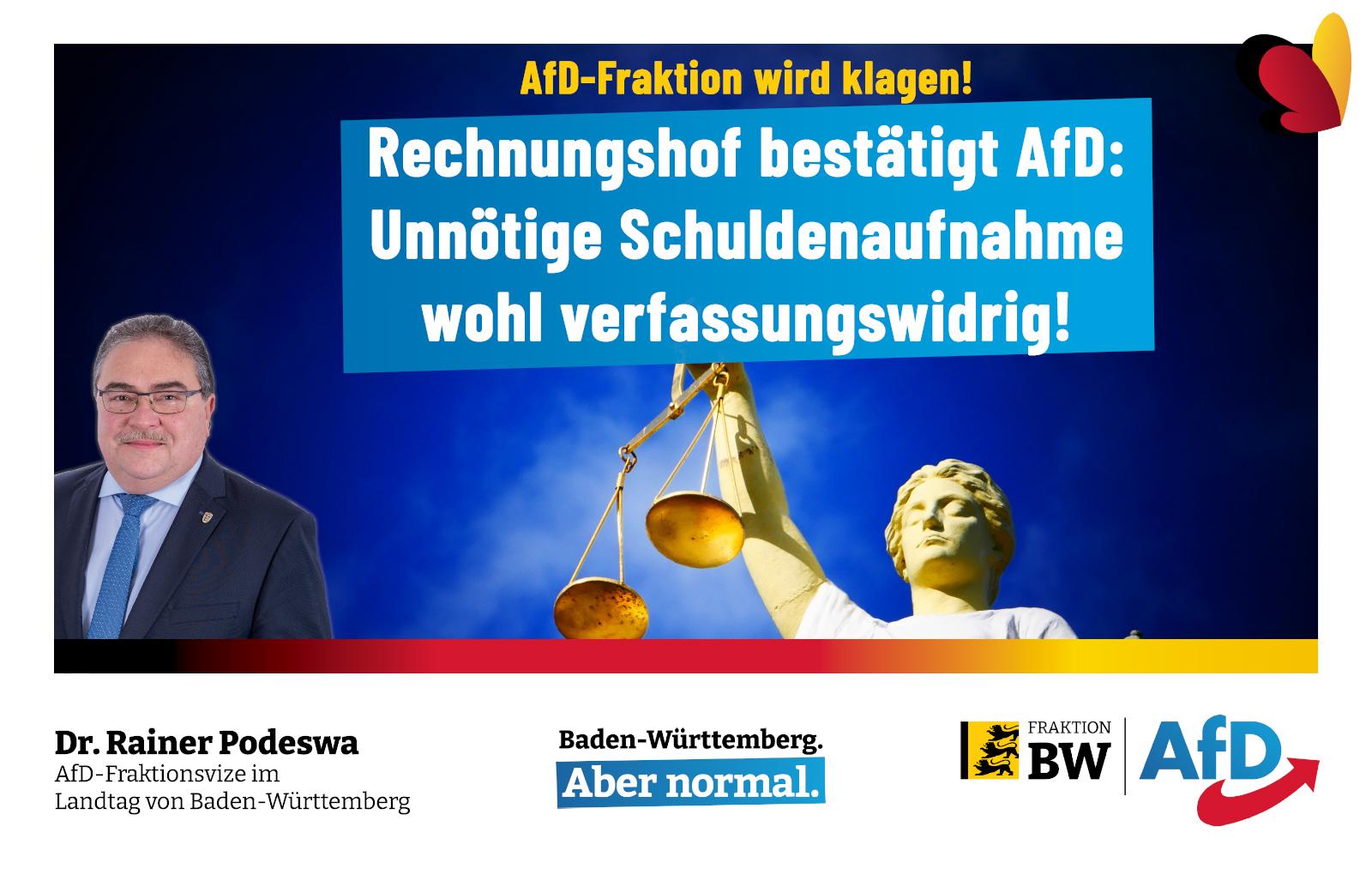 Dr. Rainer Podeswa: Rechnungshof bestätigt (wieder) AfD-Positionen