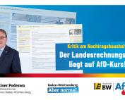 Kritik am Nachtragshaushalt: Der Landesrechnungshof liegt auf AfD-Kurs!