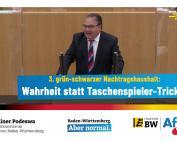 Dr. Rainer Podeswa: Haushaltswahrheit statt Taschenspielertricks